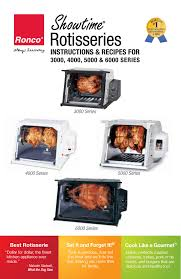 Ronco Rotisserie Cooking Time Chart Ronco St5000plgen Use And Care Manual Manualzz Com