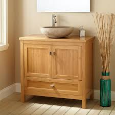 Bamboo Bathroom Sink 36 Narrow Depth Alcott Bamboo Vessel Sink Vanity Bathroom
