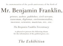 the benjamin franklin tercentenary