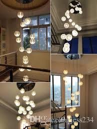 modern crystal chandelier led hanging lighting large big glass globe orb glass chandeliers luxury stair cristal chandelier lamp silver pendant light