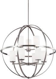 seagull 3124609 962 alturas modern brushed nickel chandelier light loading zoom