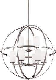 seagull 3124609 962 alturas modern brushed nickel chandelier light loading zoom
