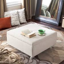 coffee table leather ottoman stylish tufted having large for home improvement cool decoration pottery white storage