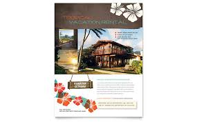 mortgage flyers templates vacation rental flyer template word publisher