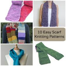 Simple Scarf Knitting Patterns