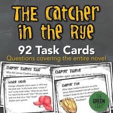 best catcher in the rye images high school  the catcher in the rye task cards 92 activities for ent