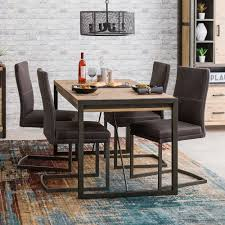small table and 4 chair set com 5pc country style oak finish wood round dining table 4 photo gallery