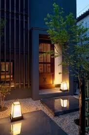 japanese outdoor lighting. urban architecture, japanese garden floor, modern, style, asian garden, walled gardens, outdoor spaces lighting
