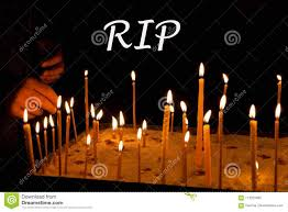 Candle Light Condolence Condolences Mourn Rip Card Concept Remembrance Day Sign