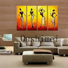 hand painted picture india r paintings on canvas oil painting for living room wall art group