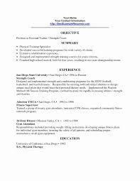 Beginner Personal Trainer Resume For Free Personal Trainer Resume