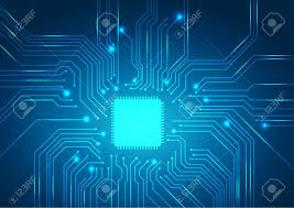 Circuit Board Background Texture Vector Royalty Free Cliparts