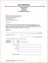 bid form example printable landscape bid templates template for quote free