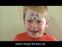 Small Picture How to face paint a simple fast and easy Easter Bunny for boys or