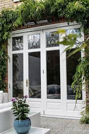 stained glass panels in bifold doors