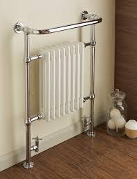 dunbar chrome white column radiator towel warmer