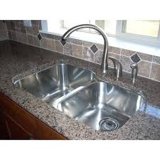 sink kitchen stainless steel undermount double bowl offset