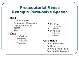 speaking to persuade appendix b sample speech ppt video  prosecutorial abuse example persuasive speech