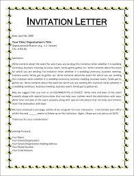Cover Letter For Invitation To Event Church Invitation Letter In