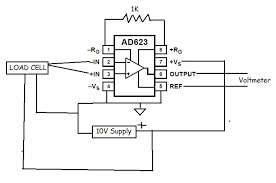 circuit diagram of load cell circuit image wiring instrumentation amplifier amplification of load cell signal on circuit diagram of load cell