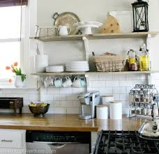 replacing kitchen cabinets with open shelving