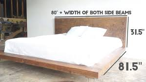 measurements are for a king size bed modern platform bed g78