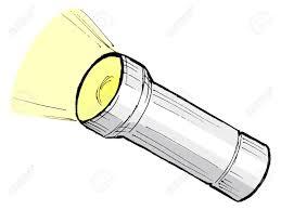 hand drawn cartoon sketch ilration of metallic flashlight stock vector 17080864