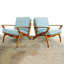 Blue Lounge Chairs | Danish Modern