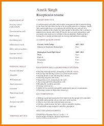 Receptionist Resume Sample Impressive 60 Entry Level Medical Receptionist Resume Business Opportunity