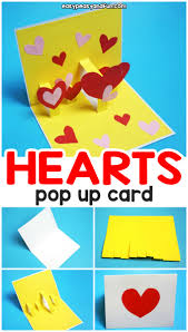 Valentines Day Cards For Boys Heart Valentines Day Pop Up Card Easy Peasy And Fun