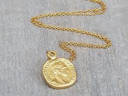 disc necklace gold coin necklace coin
