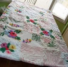 105 best ♥♥Chenille quilt♥ images on Pinterest   Kinder mat ... & One of my favorite vintage chenille quilts by Nesha's Vintage Niche, via  Flickr Adamdwight.com