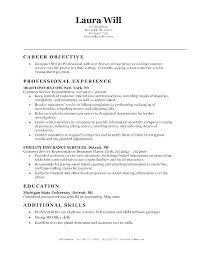 Objectives On A Resume Samples – Eukutak