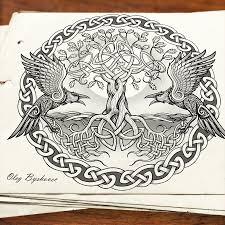 сообщество иллюстраторов иллюстрация эскиз для тату в славянской