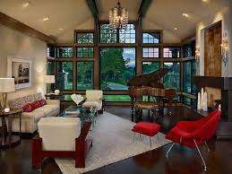 brown windows living room rustic with vaulted ceiling contemporary lounge  chairs