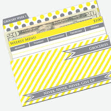budget helper printable cash envelope system budget helper yellow and etsy