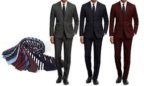 Braveman Slim Fit Suits Groupon Goods