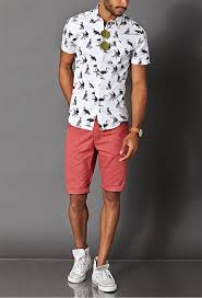 vans high tops mens. coral shorts, a printed shirt and white sneakers vans high tops mens