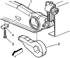 torsion key adjustment bolt. the adjustment screw passes through a half moon shaped nut (part #4), which is inserted in crossmember. torsion key bolt t