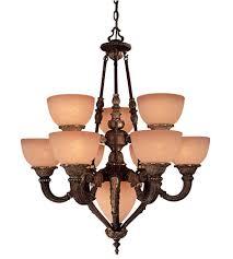 minka lavery camden 9 1 light chandelier in golden bronze 819 355 photo