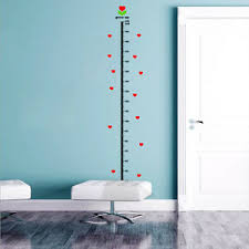 Details About Urijk Under Sea Animal Heart Height Measure Decal Wall Sticker Baby Growth Chart