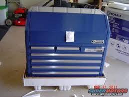 new blue kobalt tool box at lowe s