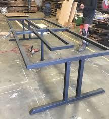 steel furniture designs. custommetaltablebase for reclaimedwoodconferencetable blacksfarmwood steel furniturestar designsmetal furniture designs r