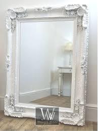 white vintage mirror style white ornate rectangle antique wall mirror 4 ft x 3 ft x white vintage