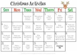 Free Printable Of A Simple Christmas Activity Calendar 2015 ...