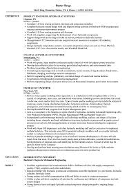 Hydraulic Engineer Sample Resume Hydraulic Engineer Resume Samples Velvet Jobs 1