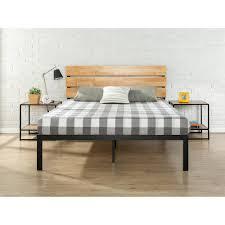 full platform bed. Zinus Sonoma Metal And Wood Black Full Platform Bed M
