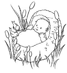 Baby Moses Coloring Page At Getdrawingscom Free For Personal Use