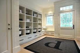 mudroom rugs monogram area rug built in entry beach style with white runner