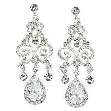chandelier earrings on anjelica swarovski luxe chandelier earrings bridal jewellery